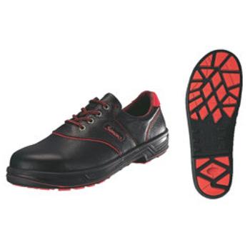安全靴 シモンライト SL11-R 黒/赤 23.5cm【セーフティーシューズ】【安全靴】【業務用靴】