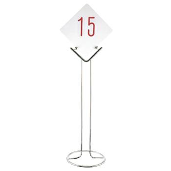 激安挑戦中 EBM-19-1079-09-001 オンライン限定商品 UK 18-8 テーブルナンバースタンド スタンド 店舗美品 ドーナツベース2010 予約スタンド