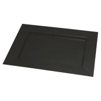 ソリア ディアマンテプレート(25入)ブラック PS30503 400×300【デザート皿】【デザートプレート】