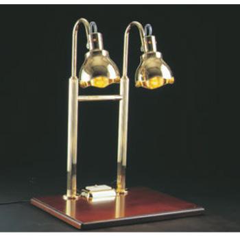 H ヒートランプ 2灯式 銀メッキクリアライト仕上【代引き不可】【バンケットウォーマー】【電気式ウォーマー】