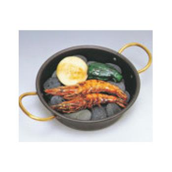 鉄 海石鍋 24cm 両手(石無し)【代引き不可】【業務用】【なべ】【鉄鍋】