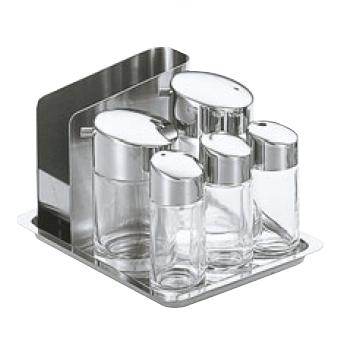 #900 テーブルセット ガラス製【調味料入れ】