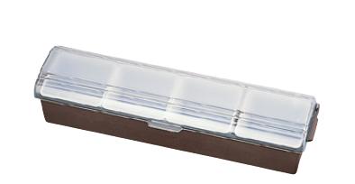 コンジメントディスペンサー 4745 4ヶ入 ブラウン TRAEX (ワイドタイプ)【収納】【ケース】【仕訳】【ストック】【ディスペンサー】【業務用】