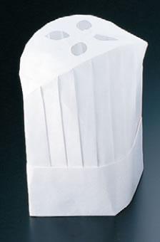 オールタイム シェフハット丸型 (50枚入) CH-2200【コック帽】【cock hat】【スカルキャップ】【Toque blanche】【業務用】