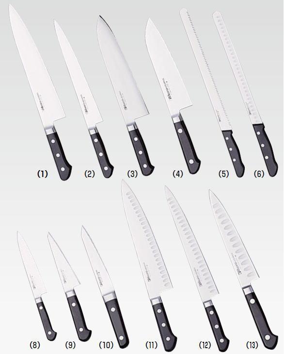 ミソノ モリブデン鋼(ツバ付)(12)筋引サーモン 360mm(527)【代引き不可】【庖丁 業務用ナイフ 洋包丁 Misono】【業務用】