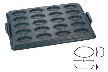 Wテフロン WJ テフロン 波型ボート天板 20面【製菓用品】【製菓道具】【オーブン用】【型】【ケーキ焼き型】【業務用】