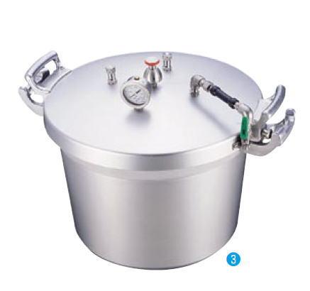 アルミ業務用 圧力鍋(第2 安全装置付) 50L【代引き不可】【アルミ】【業務用】