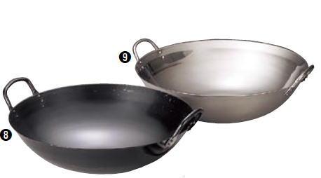 18-8 中華鍋 45cm【広東鍋】【麺ゆで用】【フライパン】【業務用】