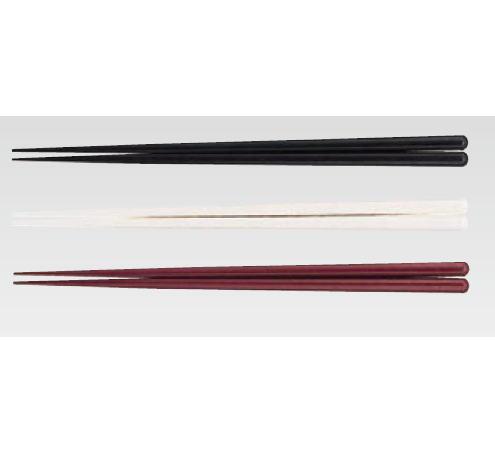 耐熱箸(50膳入) 23cm ブラック【フラットウェア】【はし】【ハシ】【業務用】