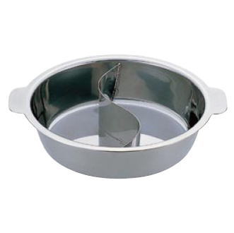 UK ちり鍋(2仕切) 29cm【鍋 しゃぶしゃぶ】【両手鍋】【卓上鍋】【宴会用】【鍋料理】【業務用】