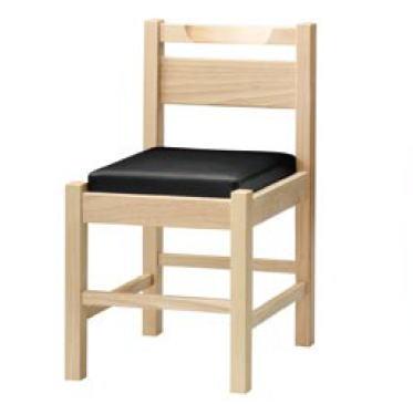 阿山N椅子 ナチュラルクリア 1055-1864 (黒レザー)【代引き不可】【レストラン椅子】【店舗用椅子】【イス】【いす】【チェア】【店舗用品】【和風椅子】【業務用】