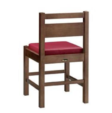 阿山D椅子 ダークブラウン 1155-1865 (赤レザー)【代引き不可】【レストラン椅子】【店舗用椅子】【イス】【いす】【チェア】【店舗用品】【和風椅子】【業務用】