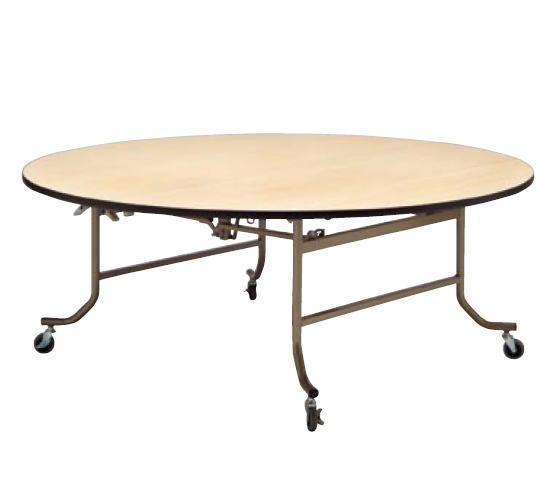 フライト 円テーブル NEW FRS1800N【代引き不可】【折りたたみ式】【会議用テーブル】【会議室テーブル】【ストッパー付キャスター付】【折り畳み式】【丸テーブル】【机】【業務用】