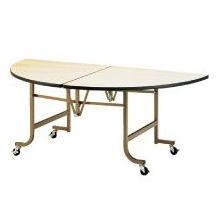 フライト 半円テーブル NEW FHS1200N【代引き不可】【折りたたみ式】【会議用テーブル】【会議室テーブル】【ストッパー付キャスター付】【折り畳み式】【丸テーブル】【机】【業務用】