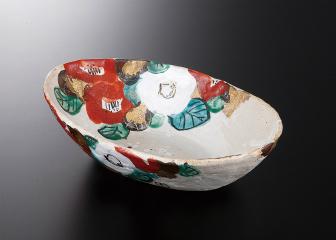 椿(無鉛) 楕円尺鉢