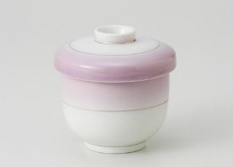 ■3個セット■紫吹渕金(中国) 並型むし碗 中