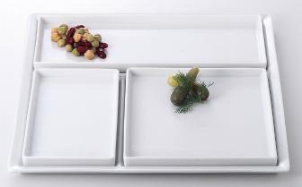 ミラノ(白) 仕切盛皿