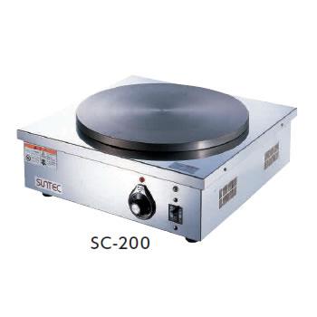 クレープシェフ SC-200【代引き不可】【電気クレープ焼機 サンテック クレープ焼器】【業務用】