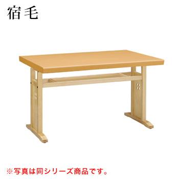 テーブル 宿毛シリーズ ナチュラルクリヤ サイズ:W1200mm×D750mm×H700mm 脚部:HKN棚付【代引き不可】