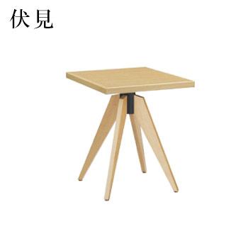 テーブル 伏見シリーズ ナチュラルクリヤ サイズ:W600mm×D750mm×H700mm 脚部:HVX700N (1本脚)【代引き不可】