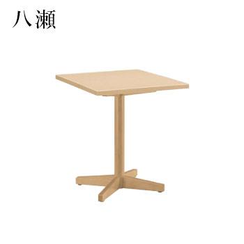 テーブル 八瀬シリーズ ナチュラルクリヤ サイズ:W600mm×D750mm×H700mm 脚部:HTN (1本脚)