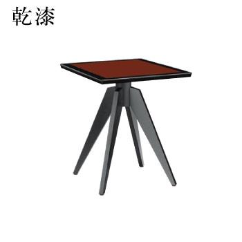テーブル 乾漆シリーズ レッド サイズ:W600mm×D750mm×H700mm 脚部:HVX700B (1本脚)【代引き不可】