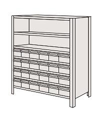 物品棚LEK型樹脂ボックス LEK8117-24T【代引き不可】