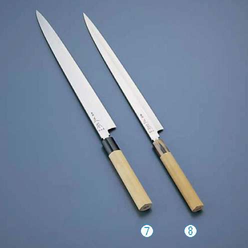 正本 コバルト鋼 フグ引刺身包丁(片刃) 27cm 【代引き不可】【業務用包丁】【和包丁】【ナイフ】【和食包丁】【業務用】