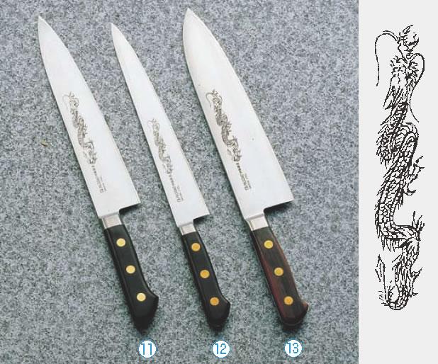 ミソノ・スウェーデン鋼(龍彫刻入)牛刀 No.117M 36cm 【代引き不可】【業務用包丁】【キッチンナイフ】【洋包丁】【SWEDISHSTEEL】【Misono】【業務用】
