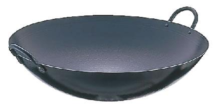 SA鉄 打出中華鍋 54cm 【業務用鍋】【Ω】【鼎】【丸底鍋】【業務用】