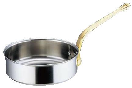 SAスーパーデンジ ソテーパン(蓋無) 21cm【ステンレス片手鍋】【電磁調理器対応】【IH対応】【業務用鍋】【SUPERDENJI】【業務用】