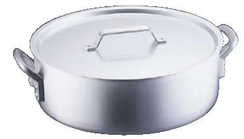 アルミ SS21外輪鍋(目盛付) 45cm【アルミ外輪鍋】【業務用鍋】【アルマイト加工】【SS21】【業務用】