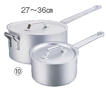 アルミ SS21片手鍋(目盛付) 27cm【アルミ片手鍋】【業務用鍋】【アルマイト加工】【SS21】【業務用】
