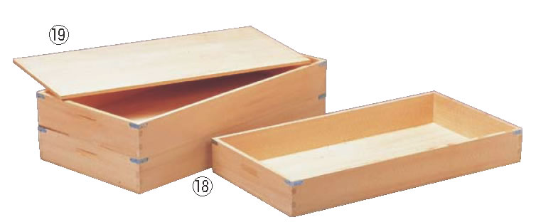 木製 仕出箱(唐桧) 【木製番重】【木製コンテナ】【木箱】【業務用】