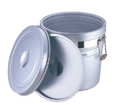 アルマイト 段付二重食缶 (大量用) 250-A (20l) 【代引き不可】【業務用食缶】【業務用ポット】【アルマイト】【業務用】【給食】【仕出し】