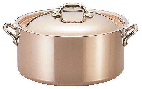 モービルカパーイノックス半寸胴鍋(蓋付) 6522.20 20cm【代引き不可】【銅鍋】【両手鍋】【mauviel】【業務用】