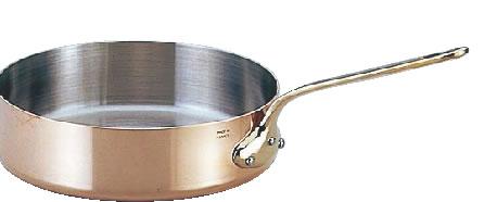 モービルカパーイノックス片手浅型鍋 (蓋無)6523.24 24cm【代引き不可】【銅鍋】【mauviel】【業務用】