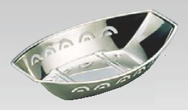 MA18-8舟型 卸売り 数量限定 おしぼり入れ 大 おしぼり皿 おしぼり置き 業務用