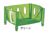 グッチーニ スタッキングバスケット 2265.1044 グリーン【guzzini】【脱衣所用品】【脱衣カゴ】【業務用】