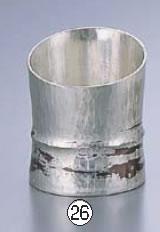 銅錫被 刷毛目竹形1ツ節ぐい呑 斜カット SG005 80cc【業務用】