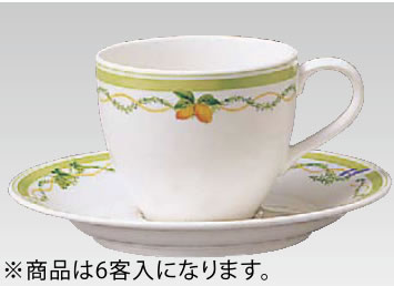 グランドセラム カップ&ソーサー6客入 95488C・S/9460【Noritake】【ノリタケ】【コーヒーカップ】【コーヒーコップ】【ティーカップ】【ティーコップ】【紅茶カップ】【業務用】
