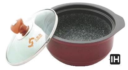IH アルミ枠付ストーン スープポット YSIH-0421 【IH 電磁調理器対応】【料理演出用品】【業務用】
