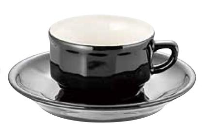 アピルコ フローラ モカカップ&ソーサー(6客入) PTFL M FL ブラック【APILCO】【コーヒーカップ】【コーヒーコップ】【ティーカップ】【ティーコップ】【紅茶カップ】【業務用】