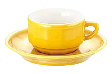 アピルコ フローラ モカカップ&ソーサー(6客入) PTFL M FL イエロー【APILCO】【コーヒーカップ】【コーヒーコップ】【ティーカップ】【ティーコップ】【紅茶カップ】【業務用】