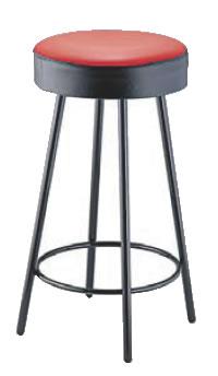 丸イス K-350(赤/黒) 座高620mm【いす】【イス】【ダイニングチェア】【レストランイス】【飲食店椅子】【業務用】