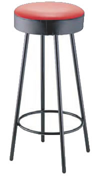 丸イス K-350(赤/黒) 座高720mm【いす】【イス】【ダイニングチェア】【レストランイス】【飲食店椅子】【業務用】