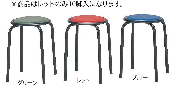 丸イス M-24T(10脚入) レッド【代引き不可】【いす】【イス】【ダイニングチェア】【レストランイス】【飲食店椅子】【業務用】
