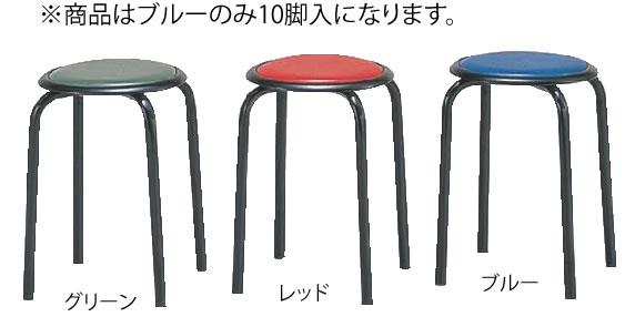 丸イス M-24T(10脚入) ブルー【代引き不可】【いす】【イス】【ダイニングチェア】【レストランイス】【飲食店椅子】【業務用】