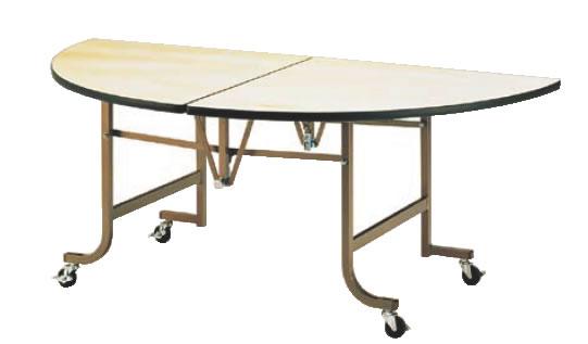 フライト 半円テーブル FHS1500【代引き不可】【会議室テーブル】【食堂用テーブル】【会議テーブル】【折りたたみ式】【業務用】