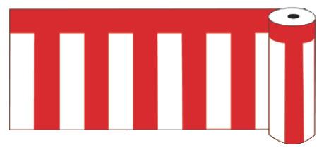 ビニール紅白幕 ロール90【店内装飾】【業務用】